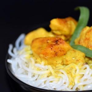 Spaghettis de Konjac et dinde au curry